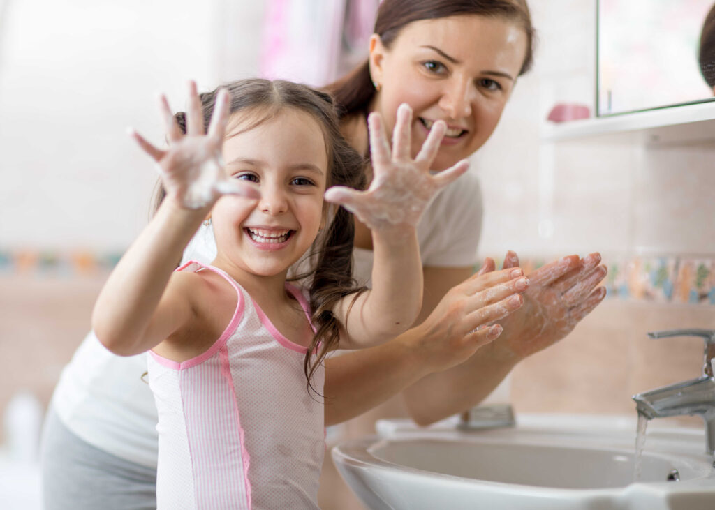 Hand-washing games and activities